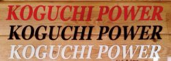 画像1: KOGUCHI POWER ロゴステッカー(大)